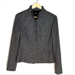 Tahari gray Button down blazer jacket